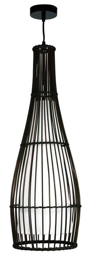 Baja 72 Pendant Dark Brown / Tc Inner E27