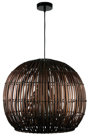 Pendant Light Cane Dark Brown Satori