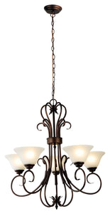 Pendant Light Gaston 5 Light Vintage Bronze