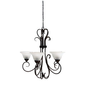 Chandelier Gaston Vintage Nine Light Bronze
