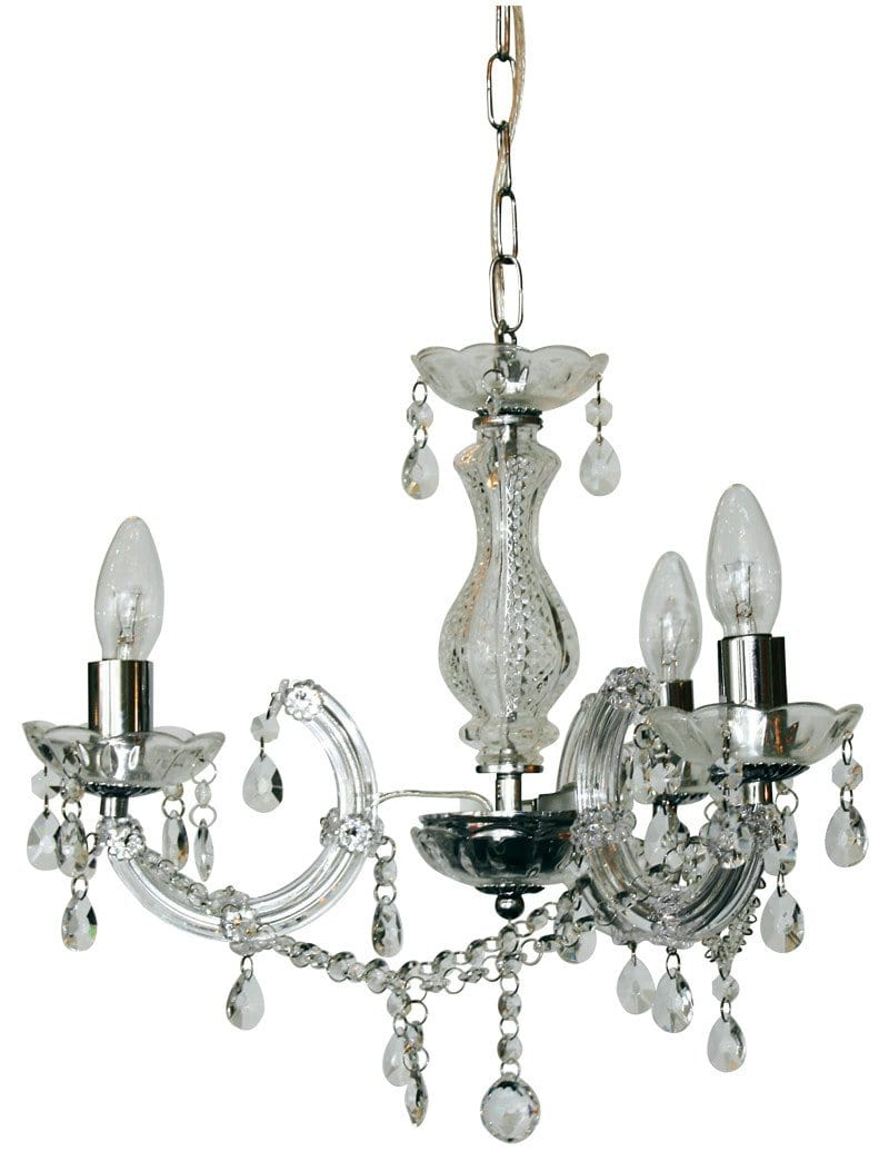 Marie Therese 3 Light Crystal Pendant Clear