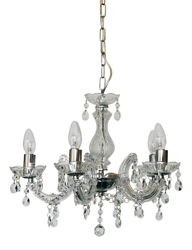 Chandelier Clear Five Light Marie Therese