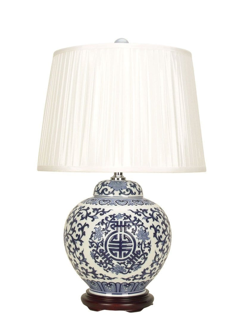 Table Lamp Chinese Ceramic Qing