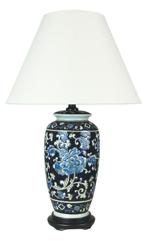 Table Lamp Chinese Ceramic Yanyu