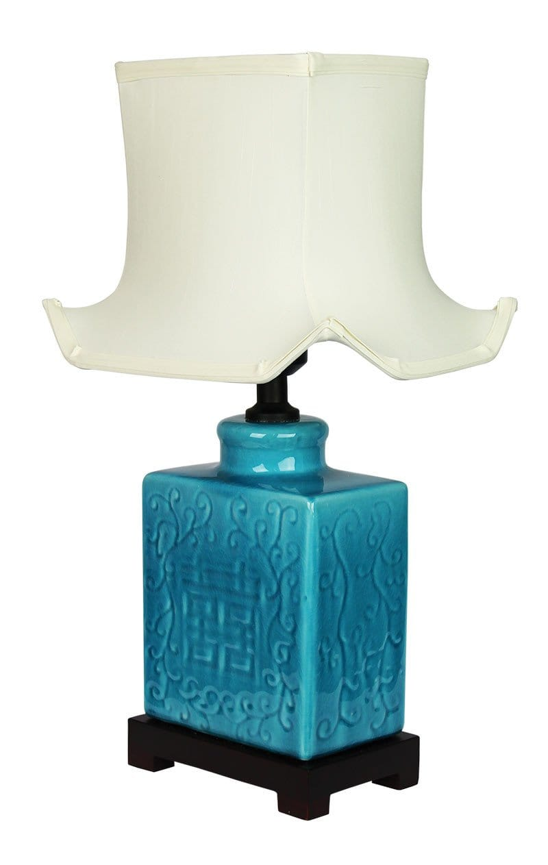 Mingyu Chinese Ceramic Table Lamp With Shade