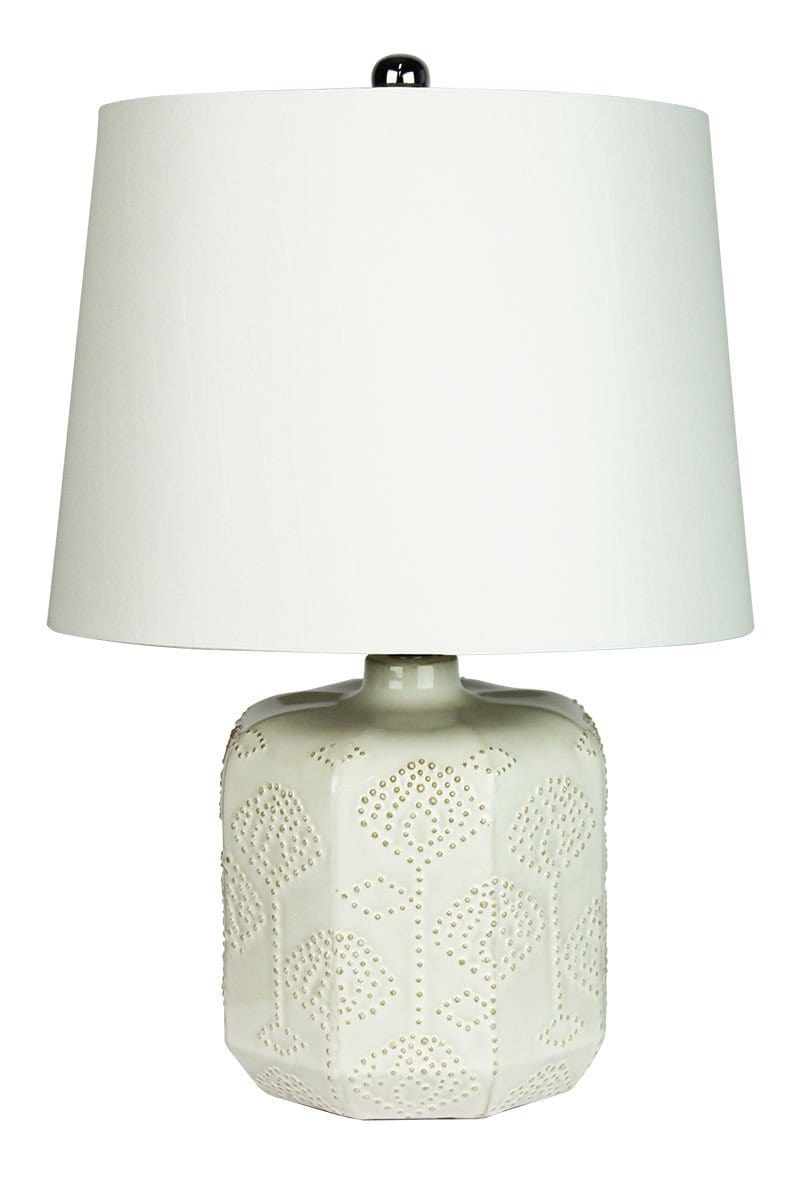 Bikki White Complete Table Lamp