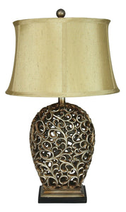 Donati Complete Table Lamp Antique Silver