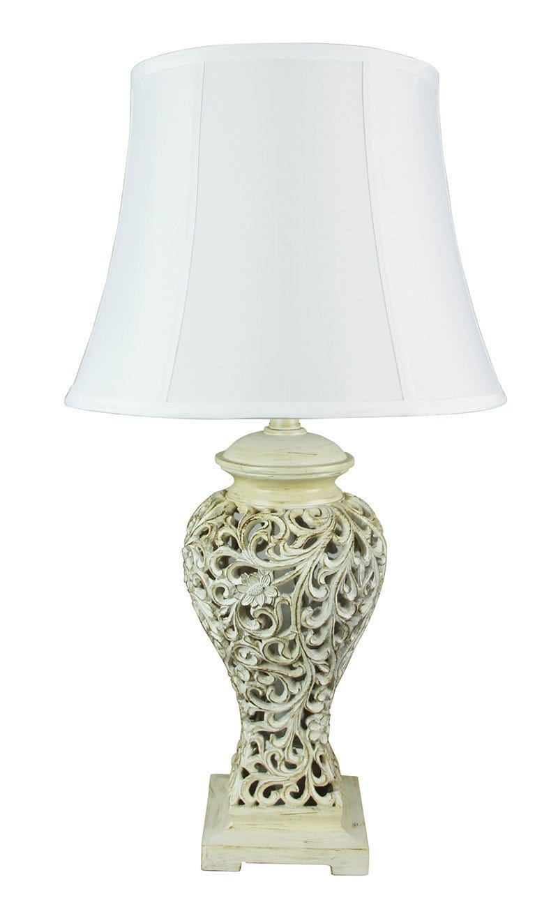 Devana Floral Cut Complete Table Lamp