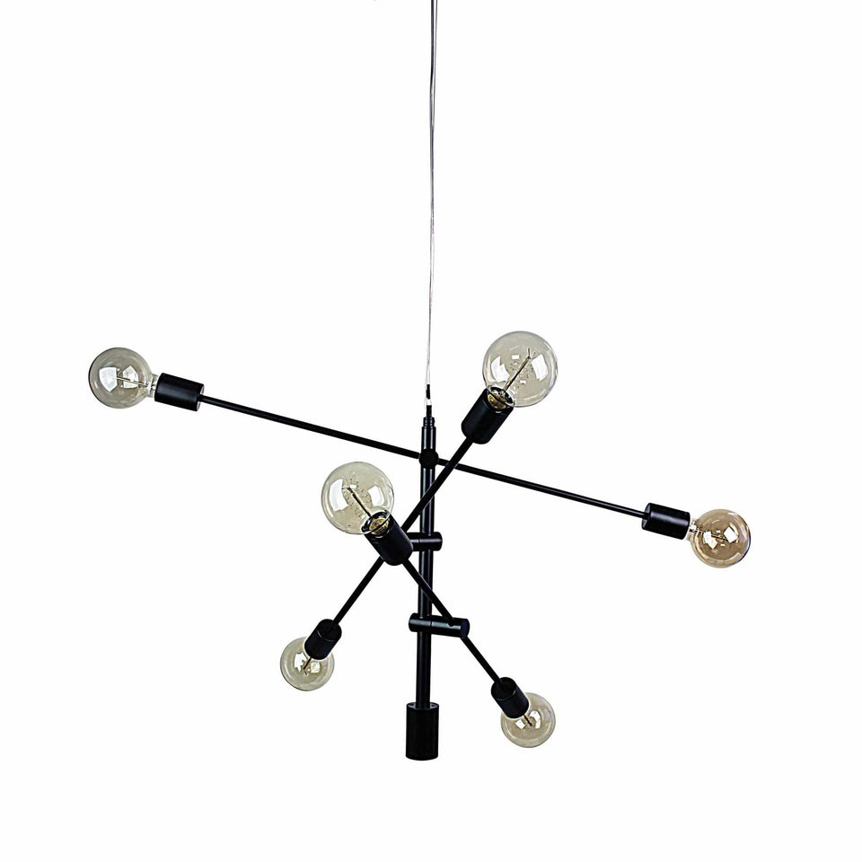 Pendant Light Chelsea 6 Light Large Black