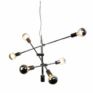 Pendant Light Chelsea 6 Light - Chrome, Brass, Matt Black