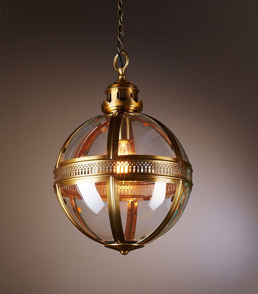 Pendant Light Saxon Pendant Lamp Large Antique Brass