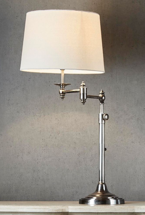 Desk Lamp Macleay Swing Arm Antique Silver