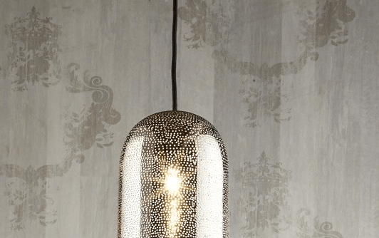 Pendant Light Moroccan Pipe Nickel