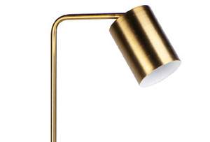 Floor Lamp Snapper Brass White Marble Base