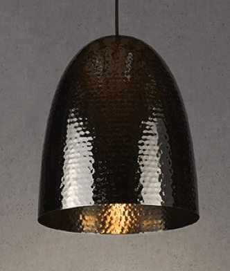 Pendant Light Dolce Beaten Charcoal Hanging Lam