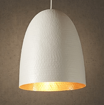 Pendant Light Dolce Beaten White Copper Hanging