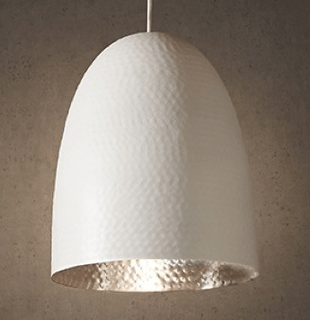 Pendant Light Dolce Beaten White Silver Hanging