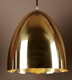 Pendant Light Egg Brass Ceiling Lamp