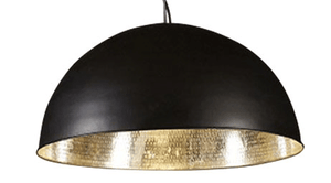 Pendant Light Alfresco Dome Black Silver Ceiling Lamp