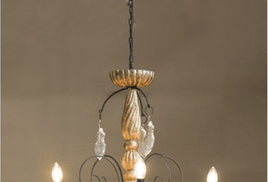 Chandelier Wood & Iron Hugo