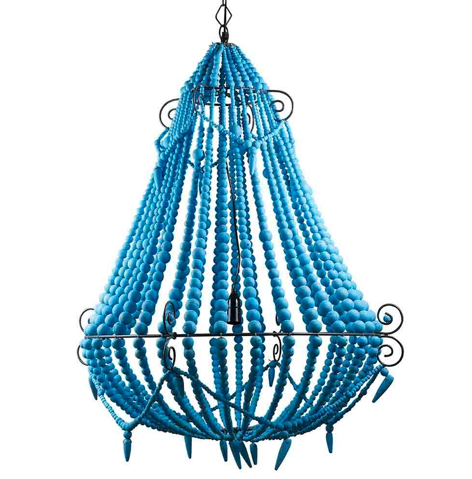 Chandelier Beaded Turquoise Small, Large