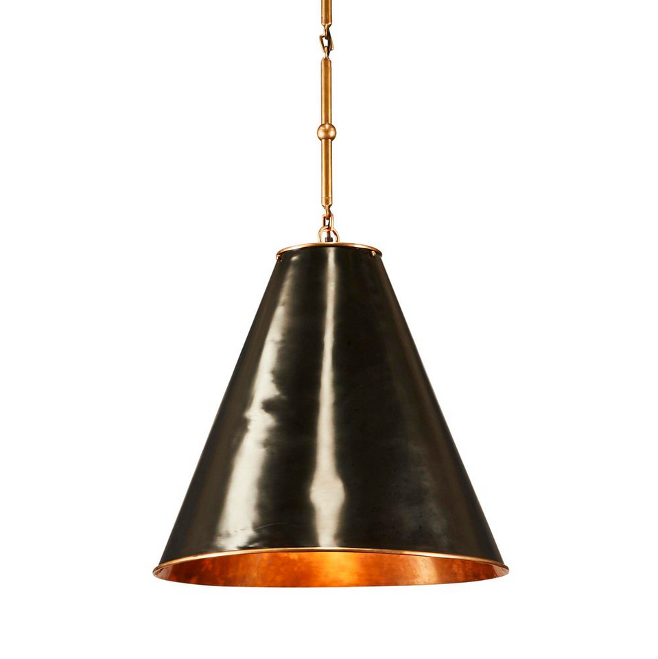 Pendant Light Monte Carlo Black, Brass, White