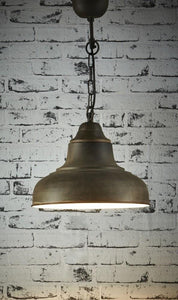 Pendant Light Brasserie Overhead Small Rust
