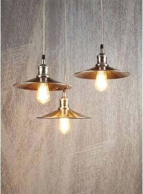 Pendant Light Manhattan Hanging Lamp In Antique Silver