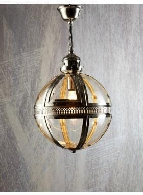 Pendant Light Saxon Pendant Lamp Sml Shiny Nickel