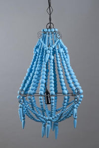 Beaded Chandelier Small Turquoise