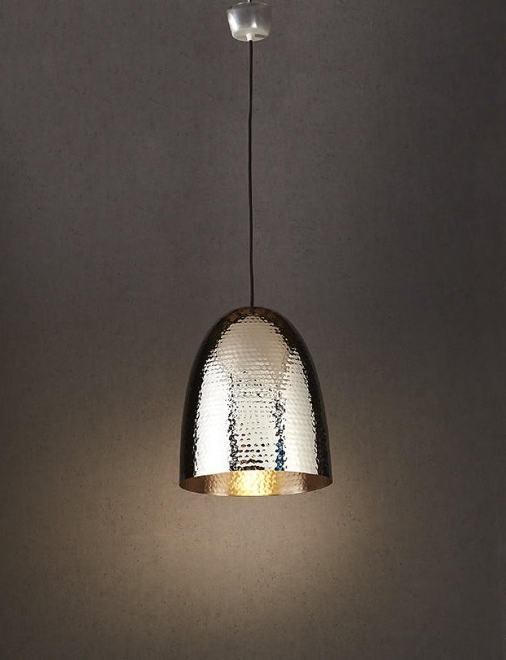 Pendant Light Dolce Beaten Silver Hanging Lamp