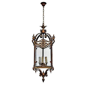 Pendant Light Bronze Candle French Riems