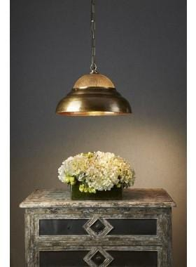Pendant Light Atrium Hanging Lamp - Antique Brass