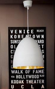 Pendant Light Egg White Label/Silver Ceiling Lamp