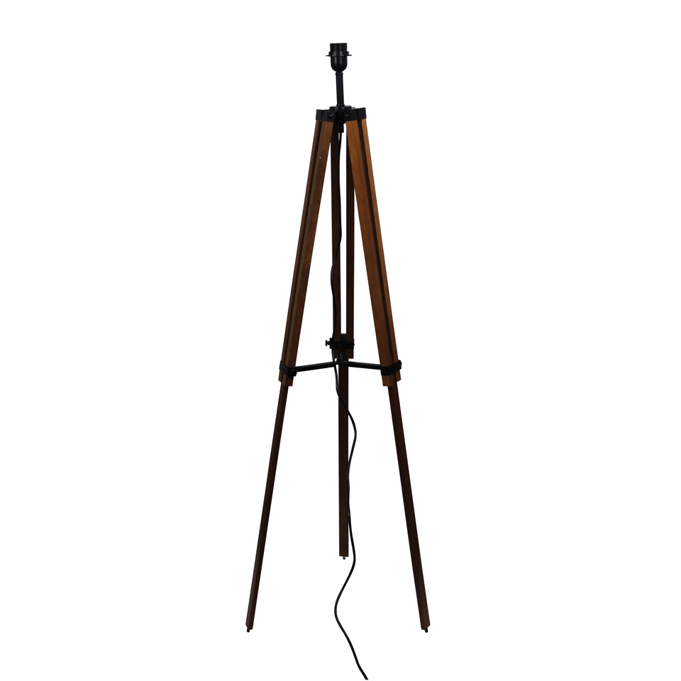 Floor Lamp Galileo Black Timber Tripod Adjustable