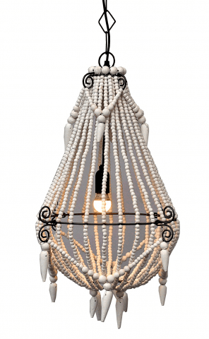 Chandelier Beaded Marley Natural White