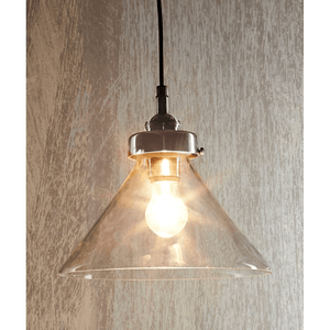 Pendant Light Glass Antique Silver