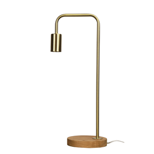 Table Lamp Scandinavian Timber, Lane - White, Black, Copper, Brass