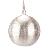 Pendant Light Moroccan Ball Silver