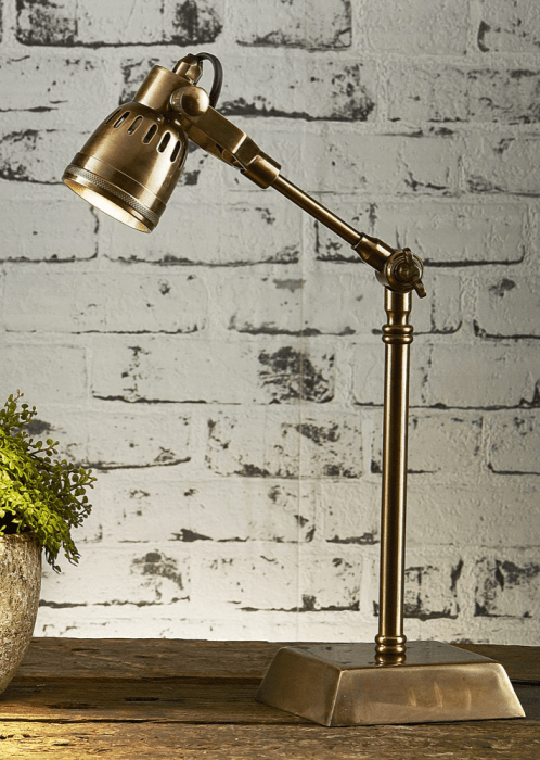 Desk Lamp Seattle - Antique Brass