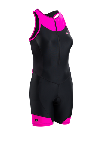 Sugoi Women's RPM Tri Suit, Black/Pink