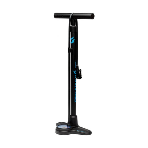 Blackburn Piston 2 Floor Pump, Black & Cyan