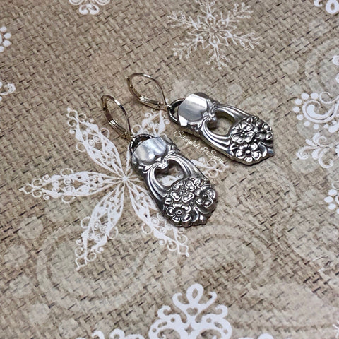 Featured Earrings, Eternally Yours 1941, Silverplate & Spoon hand made jewelry silver