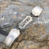 """Loved"" Bracelet, Silverplate & Spoon hand made jewelry silver"