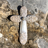 Cross Pendant, Melody 1954, Silverplate & Spoon hand made jewelry silver