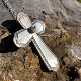 Cross Pendant, Algonquin/Baronet 1923, Silverplate & Spoon hand made jewelry silver