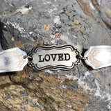 "Featured ""Loved"" Bracelet, Silverplate & Spoon hand made jewelry silver"