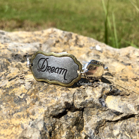 """Dream"" Bracelet, Talisman 1938, Silverplate & Spoon hand made jewelry silver"