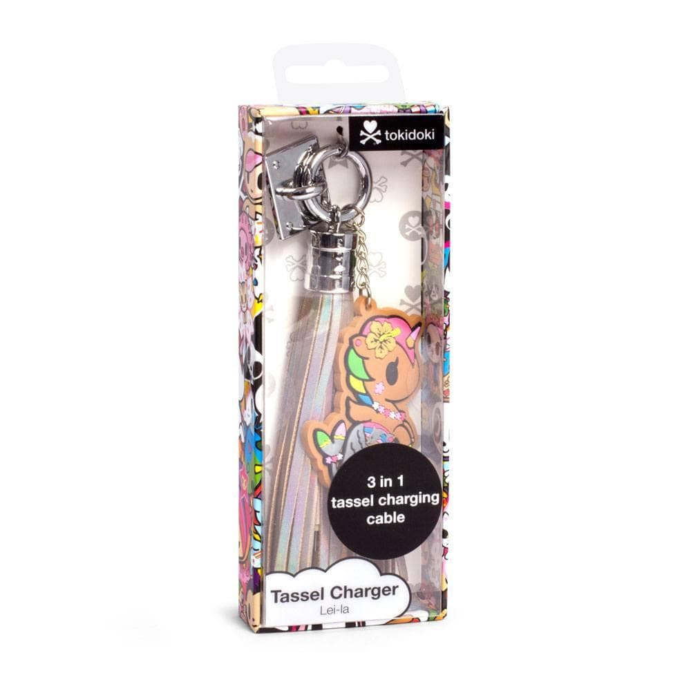 Tokidoki USB Charging Cable 3in1 with Keychain Glitter Tassel by Kitan Club