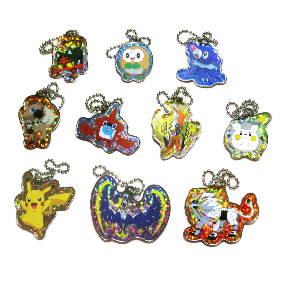 Pokemon Sun & Moon Holo Metal Charm by Takara Tomy